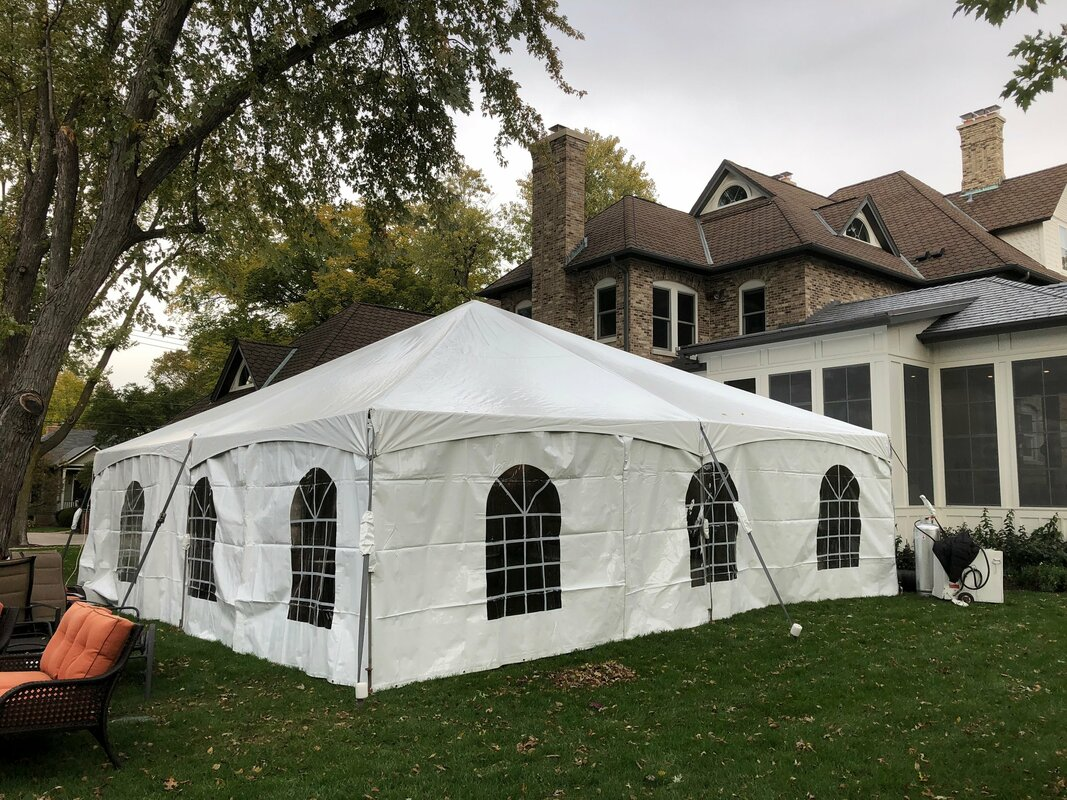 30 x 30 frame tent, hinsdale il