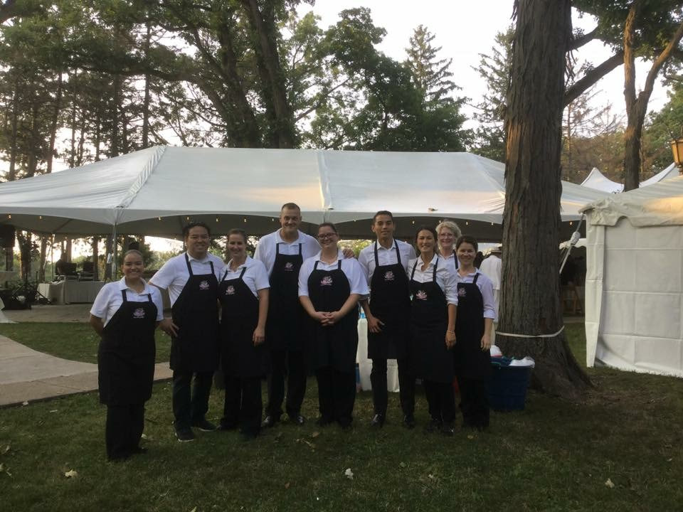 Catering Crew Hinsdale Tent Party with Chicago Tent Rental