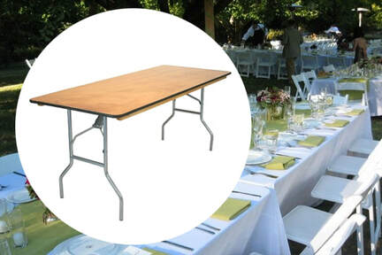 banquet table rentals